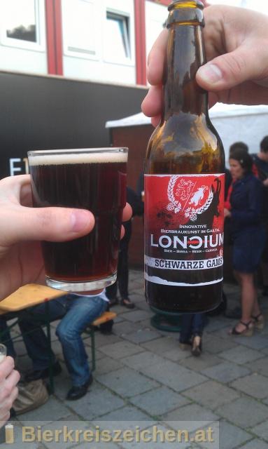 Foto eines Bieres der Marke Loncium - Schwarze Gams aus der Brauerei Privatbrauerei - Loncium