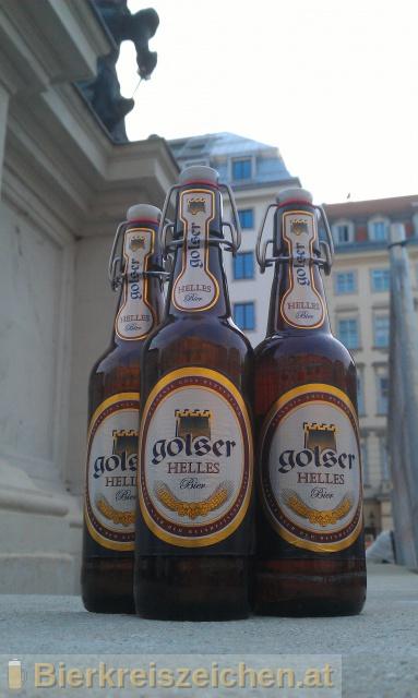 Foto eines Bieres der Marke Golser Helles aus der Brauerei Pannonia Brauerei Gols