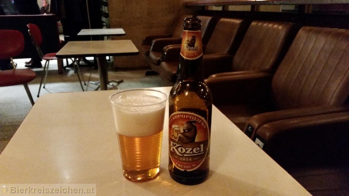 Foto eines Bieres der Marke Velkopopovický Kozel Premium aus der Brauerei Brauerei Popovice
