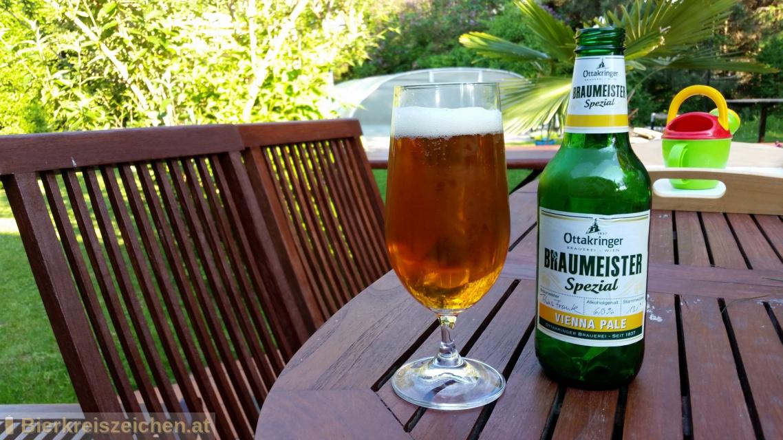 Foto eines Bieres der Marke Braumeister Spezial - Vienna Pale aus der Brauerei Ottakringer Brauerei