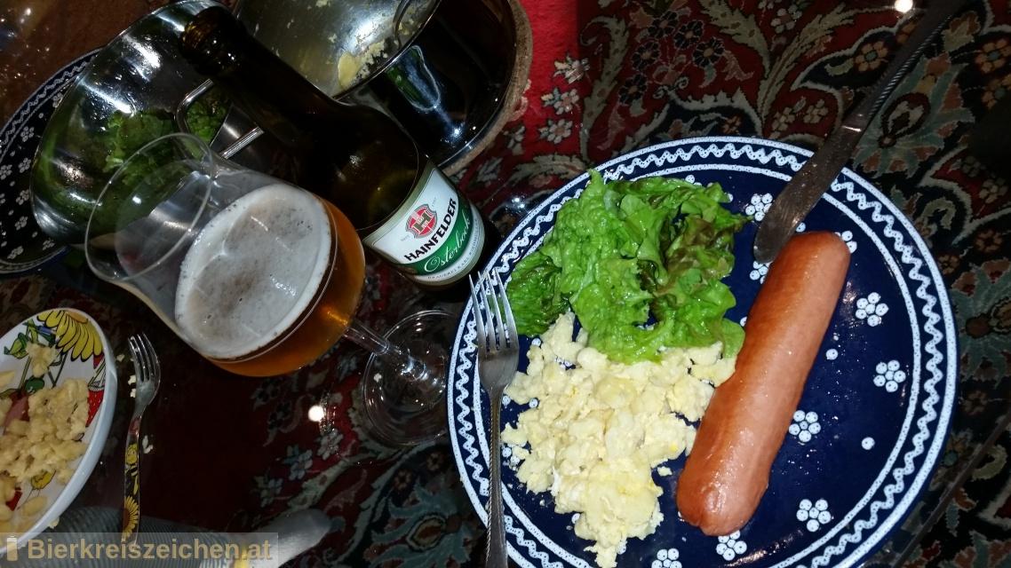 Foto eines Bieres der Marke Hainfelder Osterbock aus der Brauerei Brauerei Hainfeld