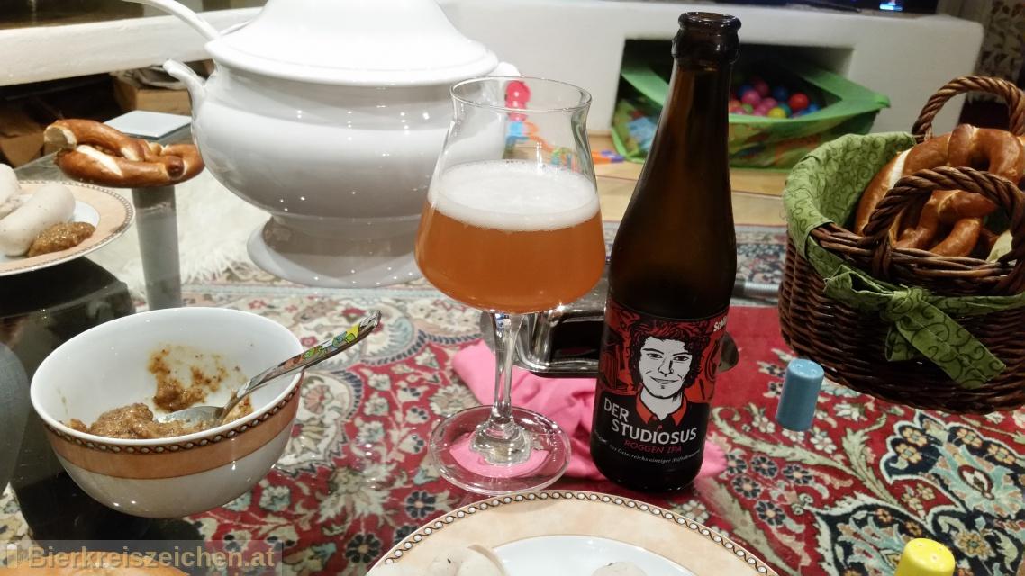 Foto eines Bieres der Marke Schlägl - Der Studiosus: Roggen IPA aus der Brauerei Stiftsbrauerei Schlägl