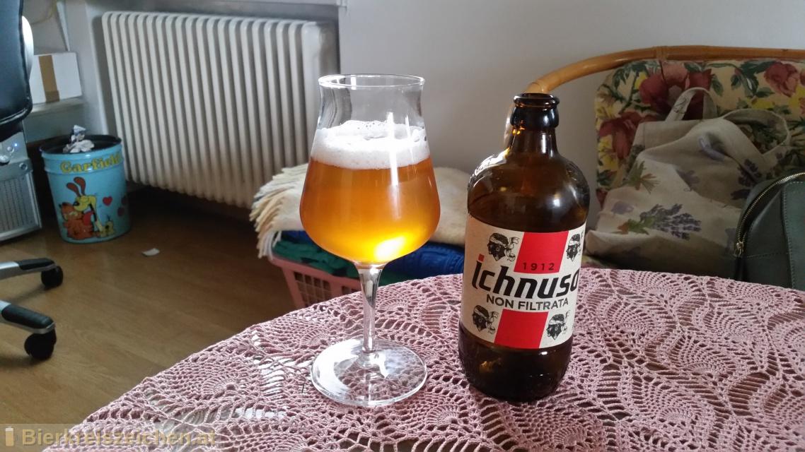 Foto eines Bieres der Marke Birra Ichnusa Non Filtrata aus der Brauerei Birra Ichnusa