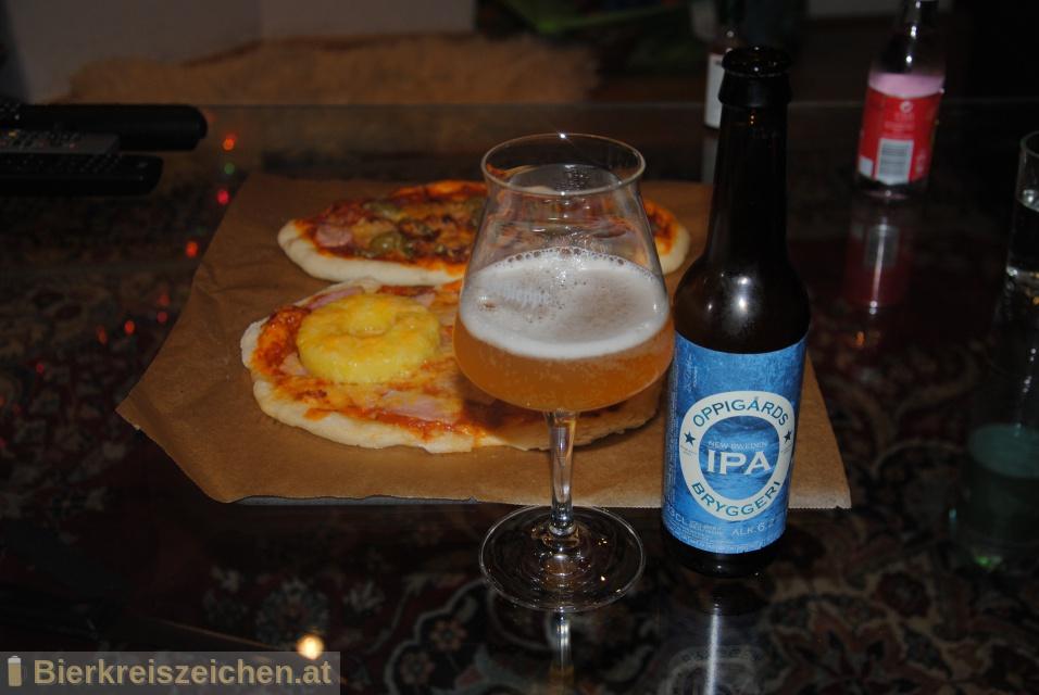 Foto eines Bieres der Marke New Sweden IPA aus der Brauerei Oppigårds Bryggeri