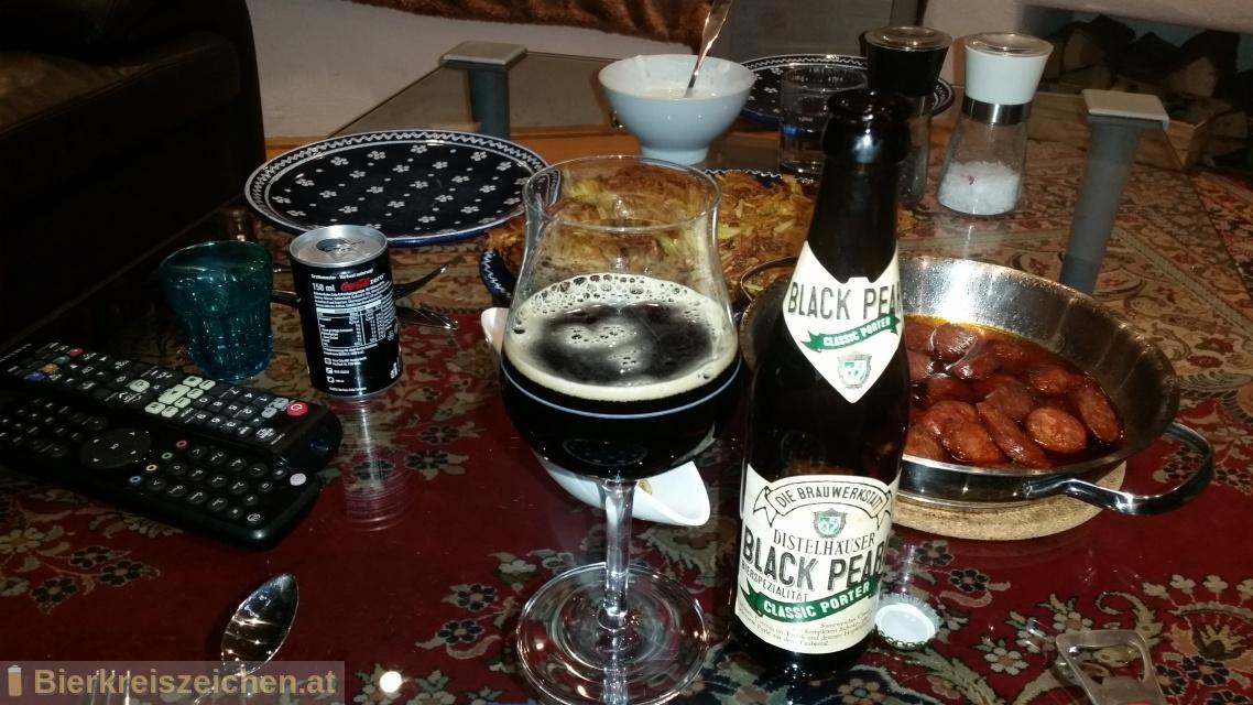 Foto eines Bieres der Marke Black Pearl - Classic Porter aus der Brauerei Distelhäuser