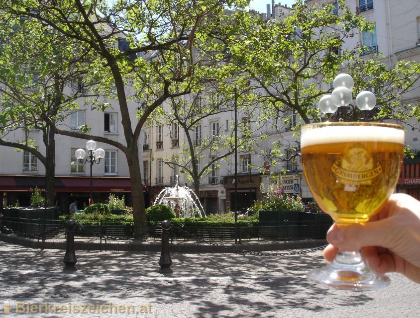 Foto eines Bieres der Marke Grimbergen Blonde aus der Brauerei N.V. Brouwerijen Alken Maes Brasseries S.A.