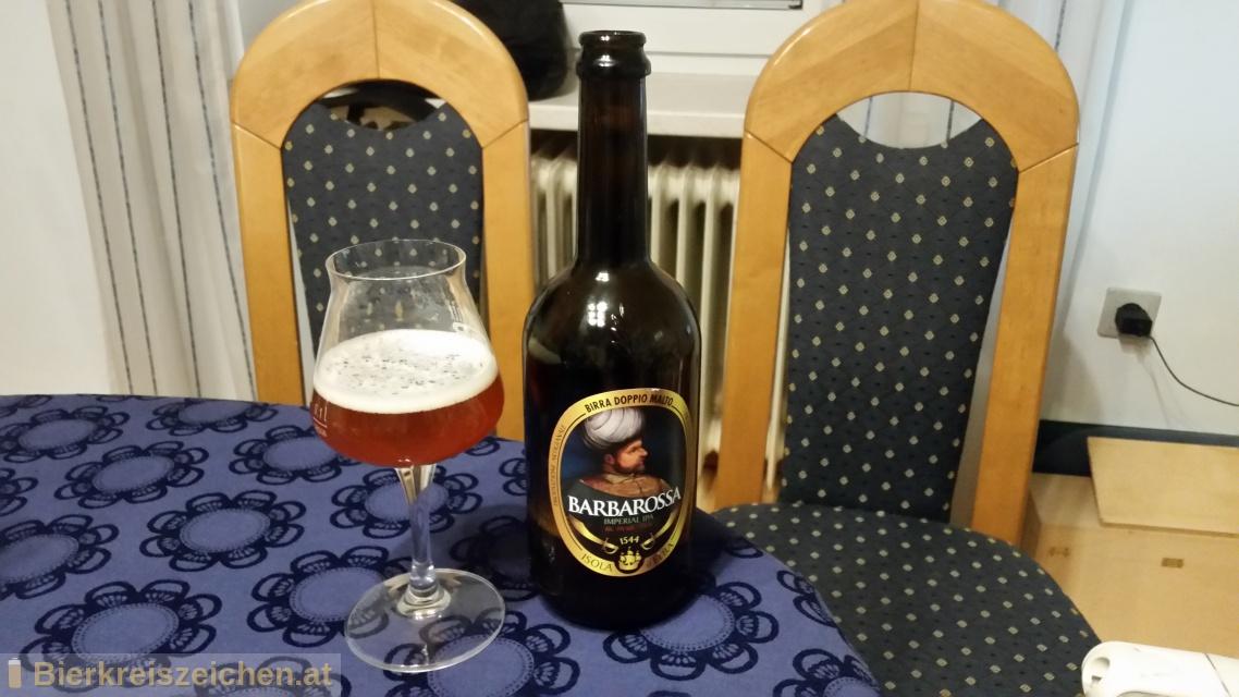 Foto eines Bieres der Marke Barbarossa (Imperial Ale) aus der Brauerei Birra dell'Elba
