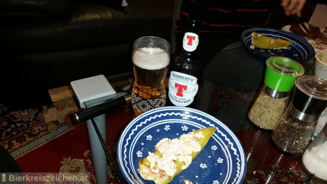 Foto eines Bieres der Marke Tennent's Gluten Free aus der Brauerei Wellpark Brewery
