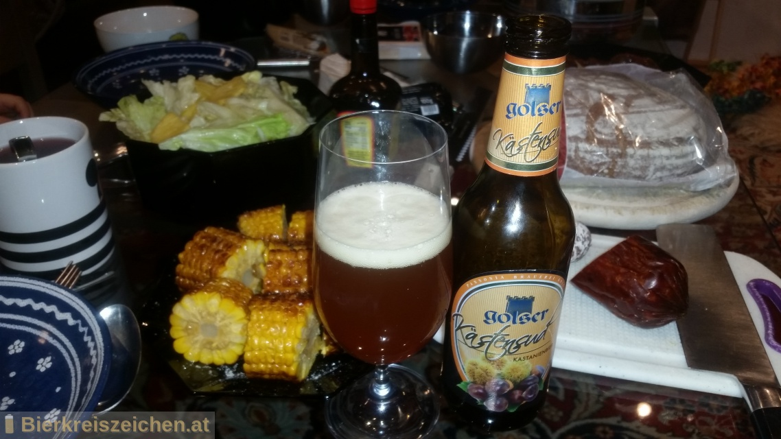 Foto eines Bieres der Marke Golser Kästensud aus der Brauerei Pannonia Brauerei Gols