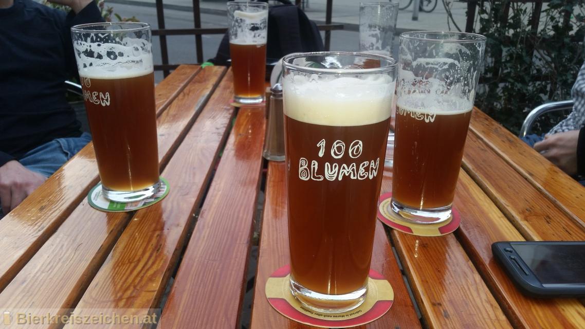 Foto eines Bieres der Marke 1020 - Wiener Lager aus der Brauerei 100 Blumen