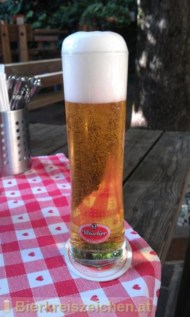 Foto eines Bieres der Marke Glockner Pils aus der Brauerei Villacher Brauerei
