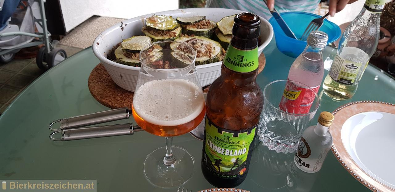 Foto eines Bieres der Marke Cumberland Ale aus der Brauerei Jennings Brewery