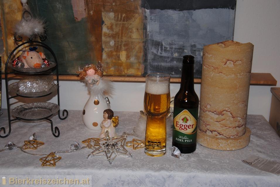 Foto eines Bieres der Marke Egger Wälder Edel Pils aus der Brauerei Brauerei Egg
