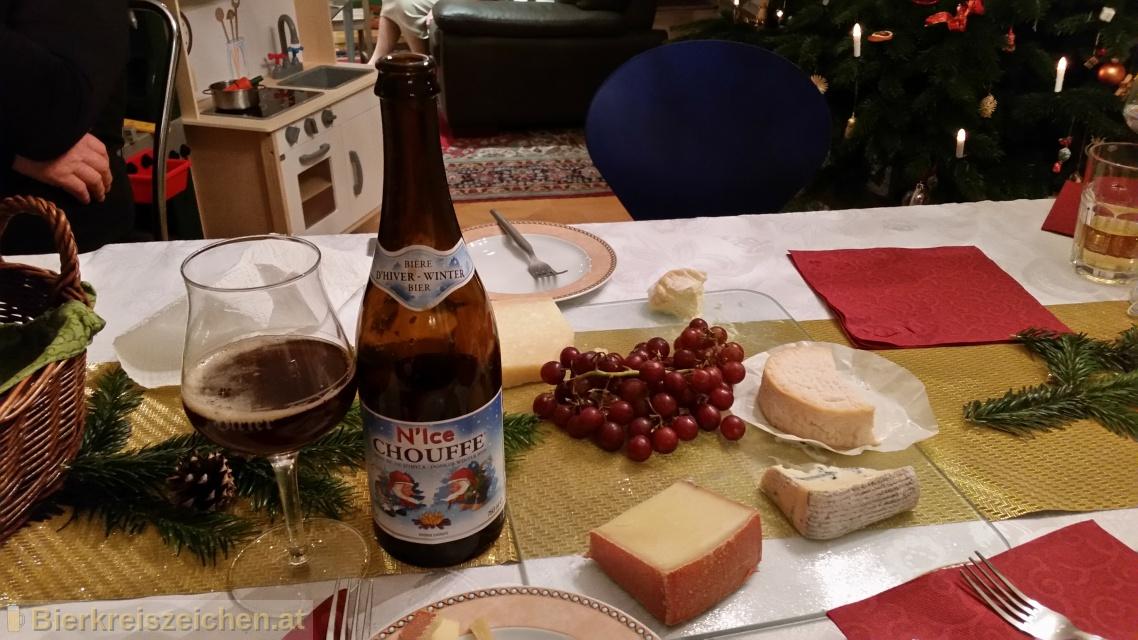 Foto eines Bieres der Marke N'Ice Chouffe aus der Brauerei Brasserie d'Achouffe