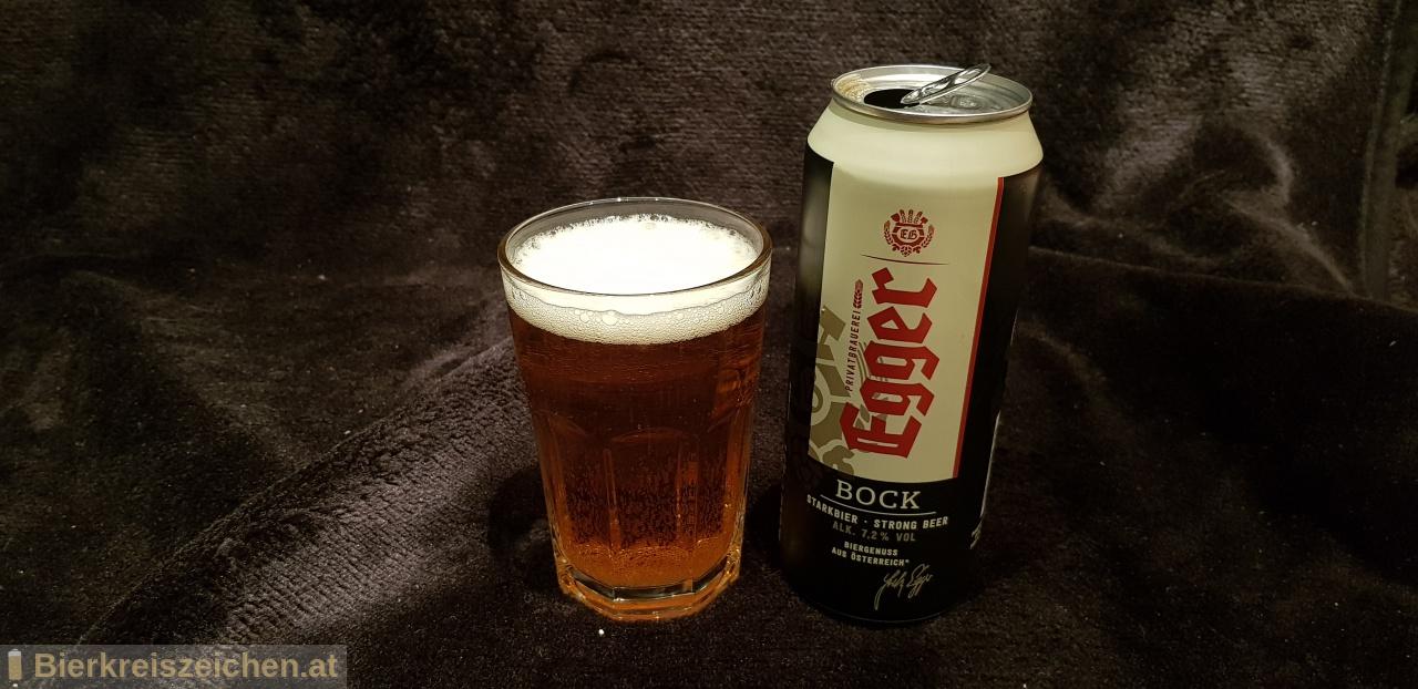 Foto eines Bieres der Marke Egger Bockbier aus der Brauerei Privatbrauerei Egger