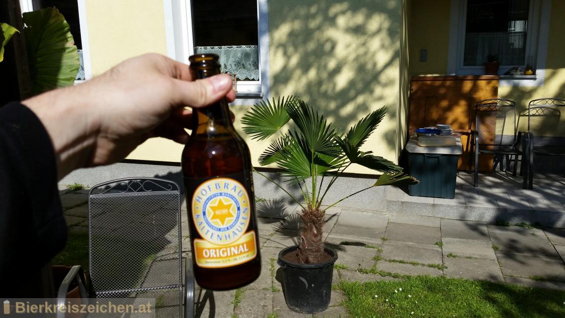 Foto eines Bieres der Marke Kaltenhauser Original aus der Brauerei Hofbräu Kaltenhausen