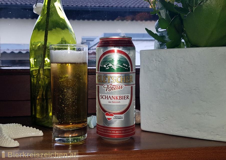 Foto eines Bieres der Marke Gletscher Bräu Schankbier aus der Brauerei Lidl