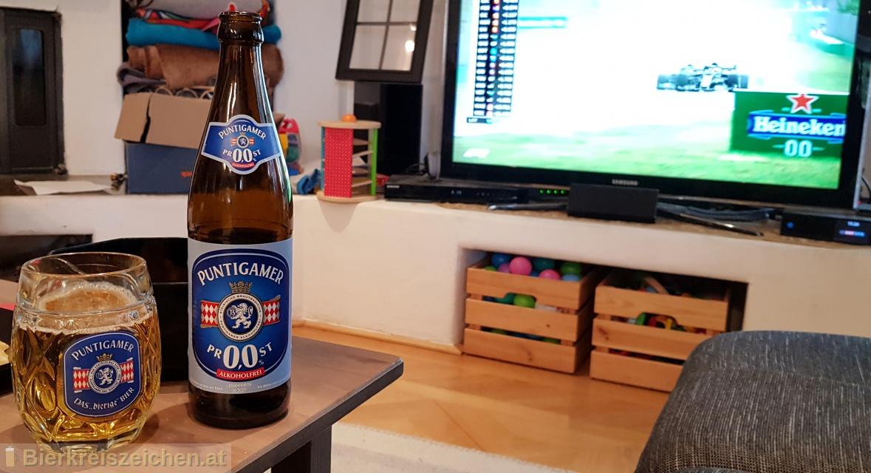 Foto eines Bieres der Marke Puntigamer PR0,0ST aus der Brauerei Brauerei Puntigam