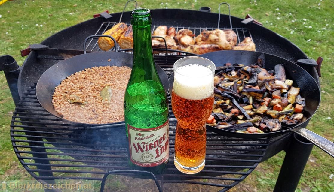 Foto eines Bieres der Marke Wiener Lager aus der Brauerei Schwechater Brauerei