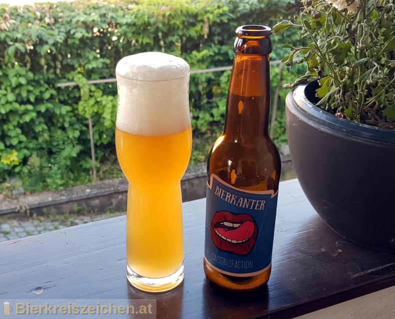 Foto eines Bieres der Marke Saisonisfaction aus der Brauerei Bierkanter