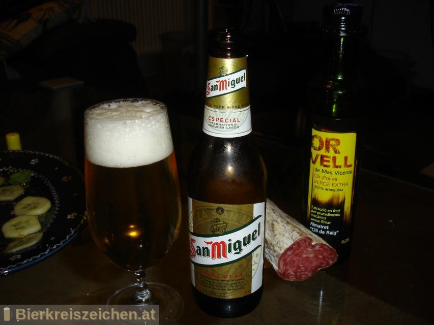 Foto eines Bieres der Marke San Miguel Especial aus der Brauerei San Miguel