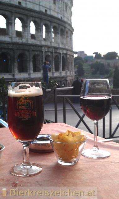 Foto eines Bieres der Marke Birra Moretti La Rossa aus der Brauerei Birra Moretti