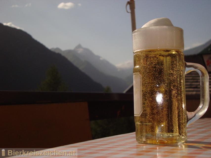 Foto eines Bieres der Marke Stiegl Radler Zitrone aus der Brauerei Stieglbrauerei