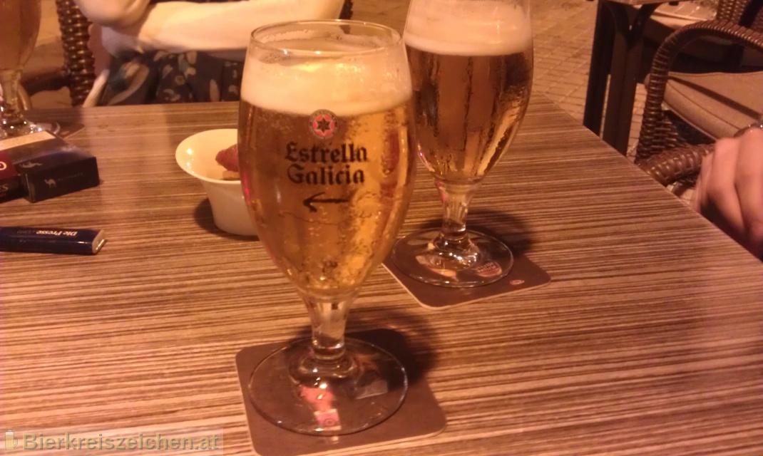 Foto eines Bieres der Marke Estrella Galicia Special aus der Brauerei Hijos de Rivera, S.A.