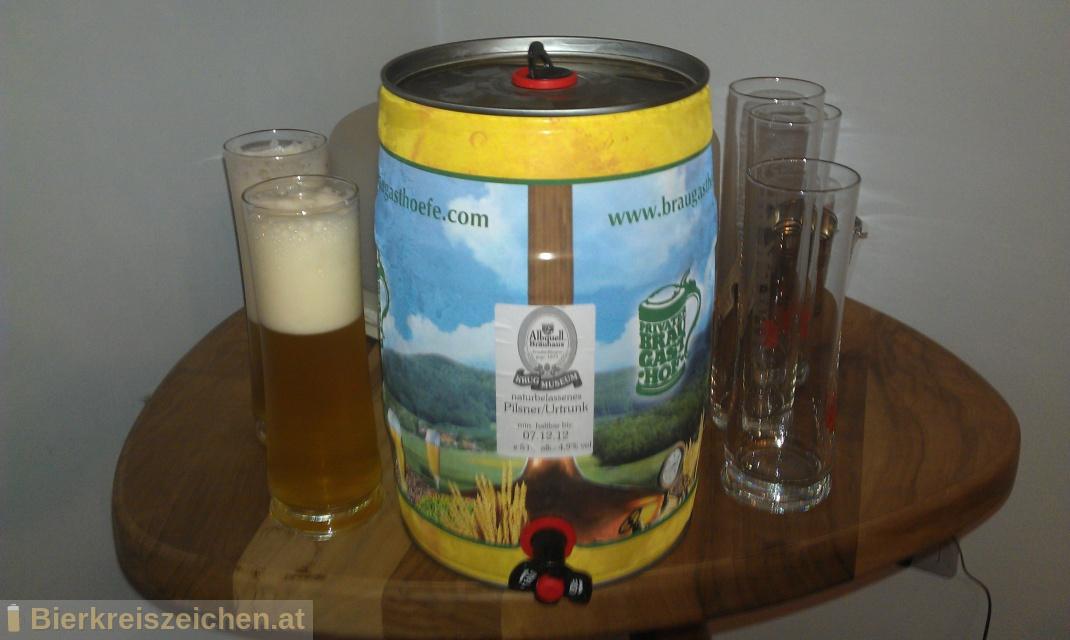 Foto eines Bieres der Marke Urtrunk aus der Brauerei Albquell Bräuhaus - Auberger & Schmid GmbH & Co