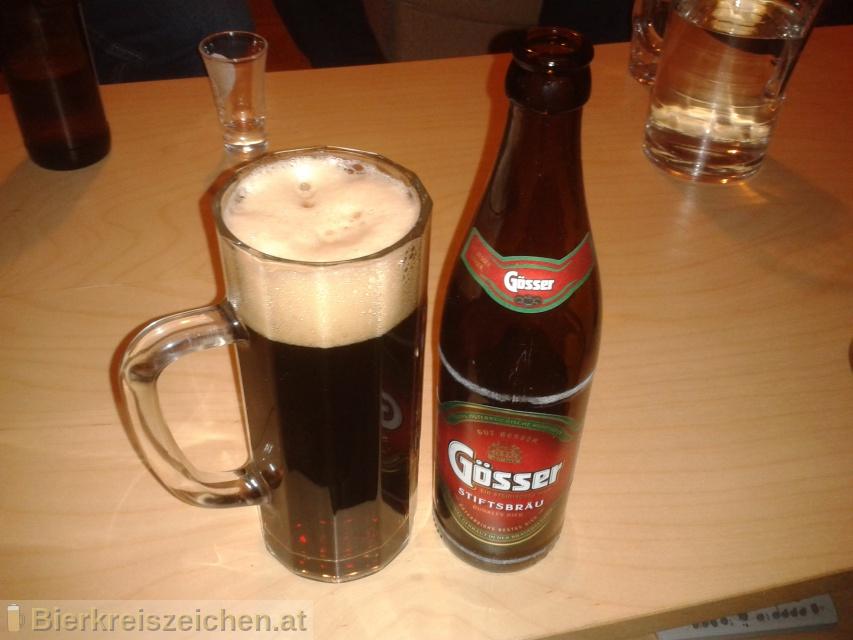 Foto eines Bieres der Marke Gösser Stiftsbräu aus der Brauerei Brauerei Göss