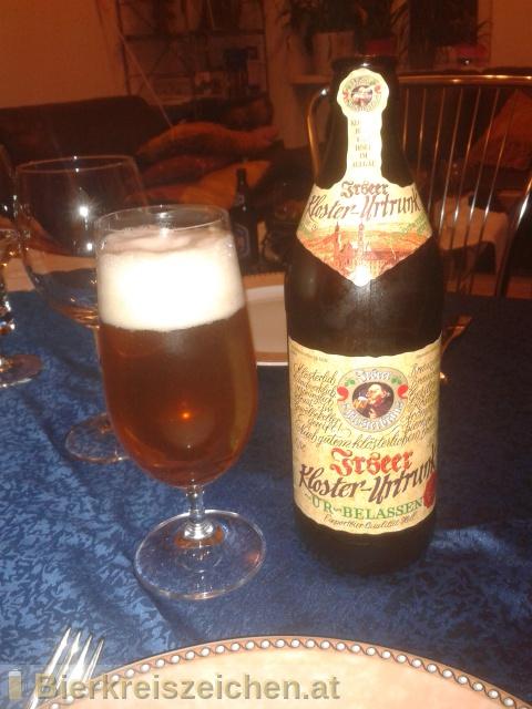 Foto eines Bieres der Marke Kloster Irsee Urtrunk aus der Brauerei Irseer Klosterbräu