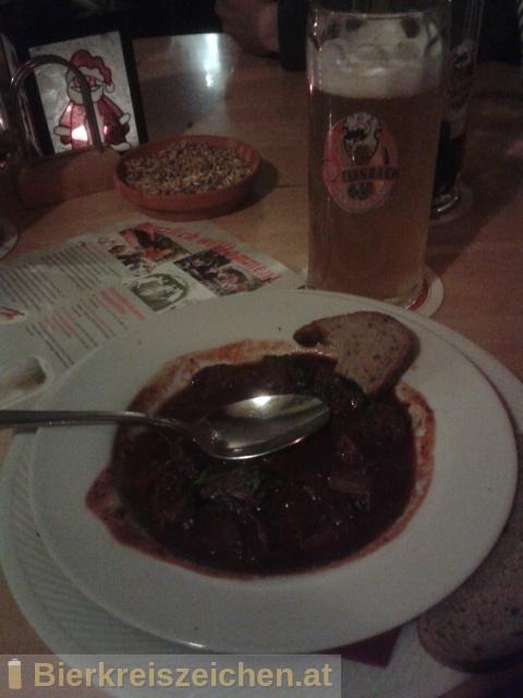 Foto eines Bieres der Marke Steinbachs Storchenbier aus der Brauerei Steinbach Bräu