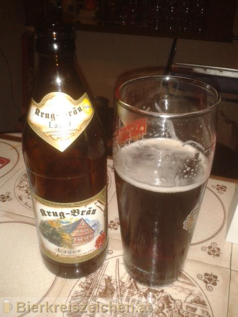 Foto eines Bieres der Marke Krug Bräu - Dunkles Lagerbier aus der Brauerei Brauereigasthof Krug