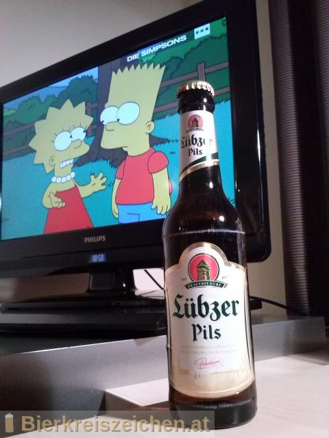 Foto eines Bieres der Marke Lübzer Pils aus der Brauerei Mecklenburgische Brauerei Lübz GmbH