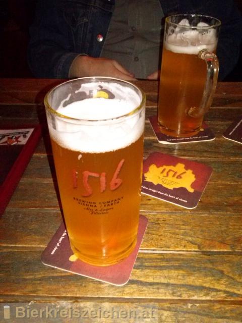 Foto eines Bieres der Marke 1516 Lager aus der Brauerei 1516 The Brewing Company