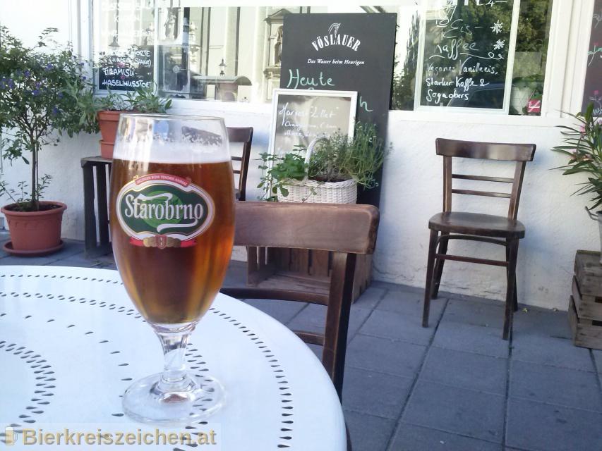 Foto eines Bieres der Marke Starobrno Černé aus der Brauerei Pivovar Starobrno