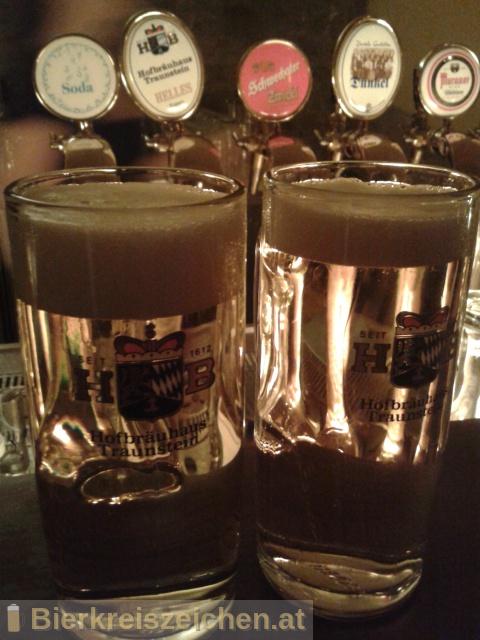 Foto eines Bieres der Marke Hofbräu Helles aus der Brauerei Hofbräuhaus Traunstein Josef Sailer KG