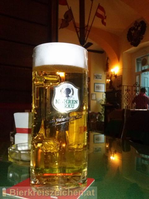 Foto eines Bieres der Marke Mohren Spezial aus der Brauerei Mohrenbrauerei