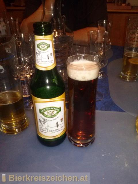 Foto eines Bieres der Marke Grieskirchner Jubiläumsbier - 400 Jahre Stadt Grieskirchen aus der Brauerei Brauerei Grieskirchen