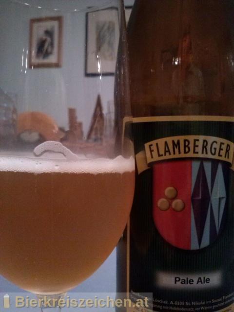 Foto eines Bieres der Marke Flamberger Pale Ale aus der Brauerei Brauerei Flamberger
