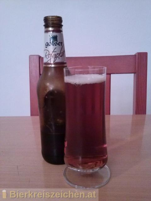 Foto eines Bieres der Marke Golser Rotgold aus der Brauerei Pannonia Brauerei Gols