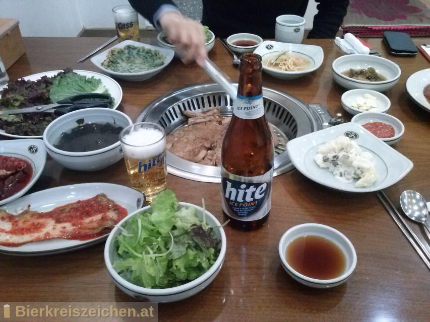 Foto eines Bieres der Marke Hite aus der Brauerei Hite Brewery Company Limited
