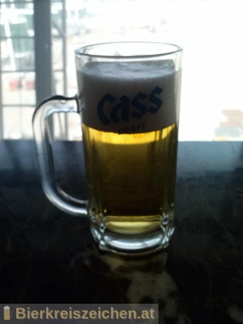 Foto eines Bieres der Marke Cass Fresh aus der Brauerei Oriental Brewery