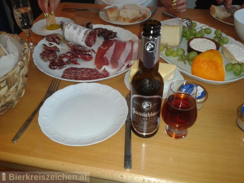 Foto eines Bieres der Marke Schloss Eggenberg - Samichlaus Classic aus der Brauerei Brauerei Schloss Eggenberg