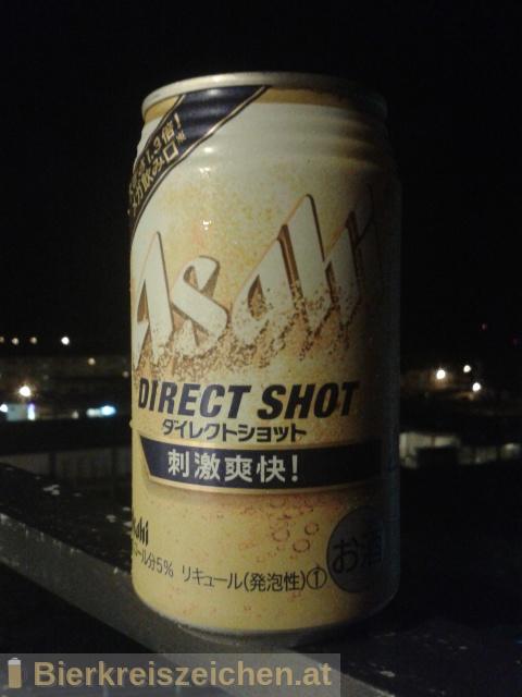 Foto eines Bieres der Marke Asahi Direct Shot aus der Brauerei Asahi Bīru Kabushiki-gaisha