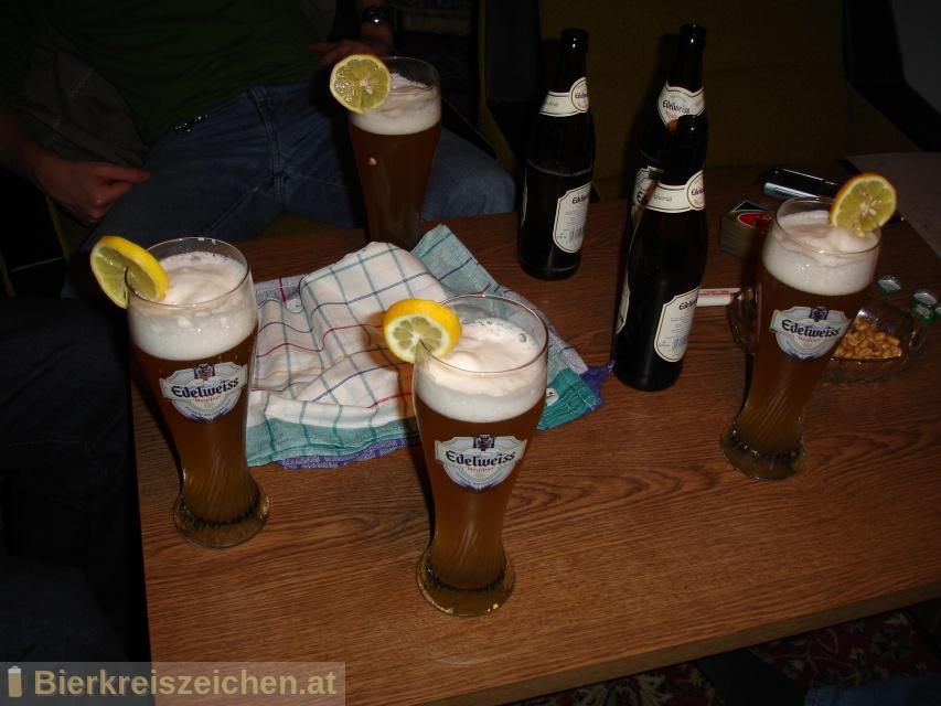 Foto eines Bieres der Marke Edelweiss Hefetrüb aus der Brauerei Hofbräu Kaltenhausen