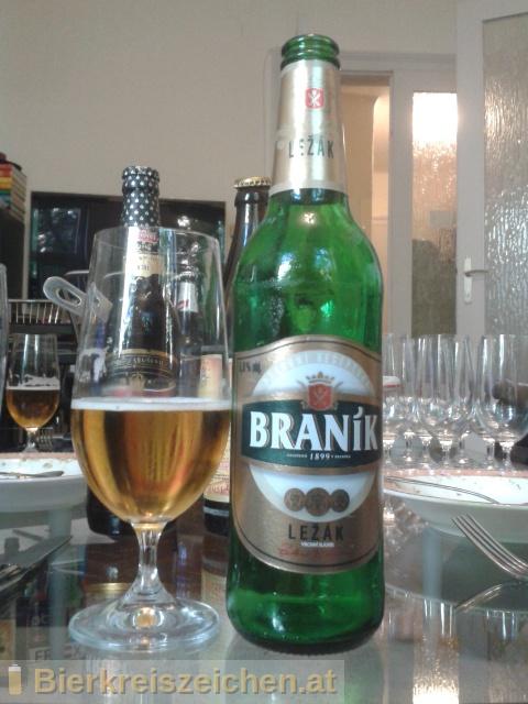 Foto eines Bieres der Marke Braník Ležák aus der Brauerei Staropramen