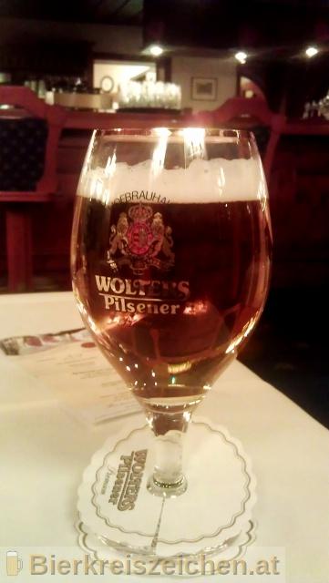 Foto eines Bieres der Marke Wolters Pilsener aus der Brauerei Hofbrauhaus Wolters GmbH