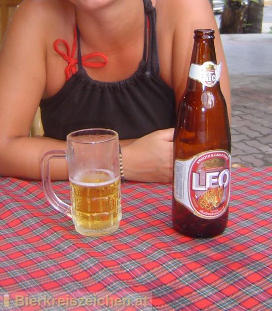 Foto eines Bieres der Marke Leo Beer aus der Brauerei Boon Rawd Brewery