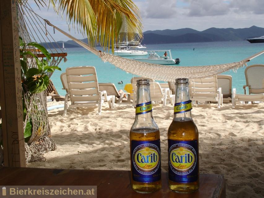 Foto eines Bieres der Marke Carib Lager aus der Brauerei Carib Brewery Ltd.